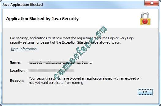 1 Eroare Java application blocked.jpg