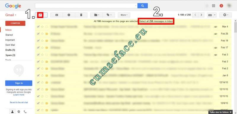 Cum sa stergi toate e-mail-urile dintr-o categorie din gmail